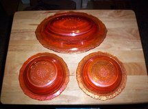 3-PC. IRIDESCENT CARNIVAL GLASS MATCHING BOWLS in Camp Lejeune, North Carolina